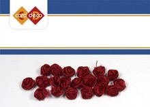 DEKOBAND / RIBBONS / RUBANS ... small red roses, 20 pieces