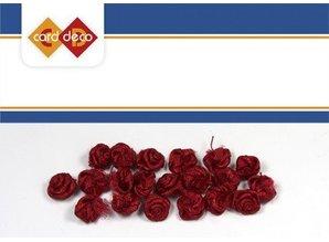 DEKOBAND / RIBBONS / RUBANS ... kleine rote Röschen, 20 Stück