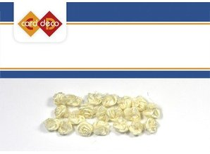 Embellishments / Verzierungen small white florets, 20
