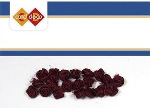 Embellishments / Verzierungen 20 piccole rose rosso scuro