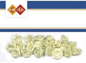 Embellishments / Verzierungen 20 weiße Röschen