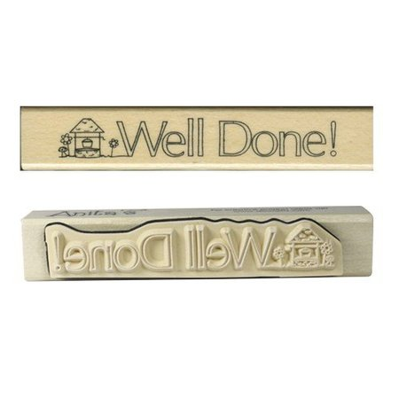 "Stempel / Stamp: Holz / Wood ""Well done!"""