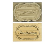 Stempel / Stamp: Holz / Wood Anita `s - wood English text stamp