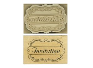 "Stempel / Stamp: Holz / Wood ""Invitation"""