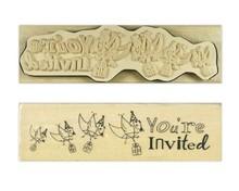 Stempel / Stamp: Holz / Wood `S Anita - Inglés wood sello en el texto