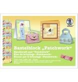 "DESIGNER BLÖCKE  / DESIGNER PAPER Bastelblock ""Patchwork"", Block = 16 Blatt,"