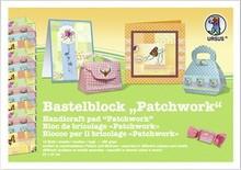 """DESIGNER BLÖCKE  / DESIGNER PAPER Crafting block """"Patchwork"""", block = 16 sheets, 24x34cm, 300g, printed on both sides"""