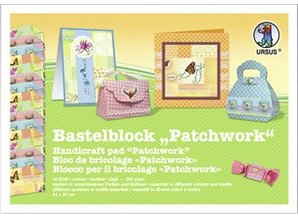 "DESIGNER BLÖCKE  / DESIGNER PAPER Blocco Crafting ""patchwork"", blocco = 16 fogli,"