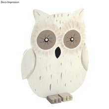 Objekten zum Dekorieren / objects for decorating Eule aus Holz, 20x16,5x0,6 cm, 3 teilig
