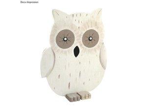 Objekten zum Dekorieren / objects for decorating Búho de madera, 20x16,5x0,6 cm, 3 piezas