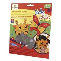Craft Kit: papier mache maskers, Trio, grappige dierenwereld