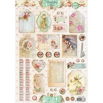 Shabby Chic, t A4 Bogen