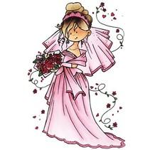 Sellos transparentes Snoesje - Aquí viene la novia, 10,5 x 18 cm