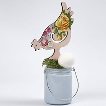 Objekten zum Dekorieren / objects for decorating NUOVO: Pollo, H 26 19,5 centimetri, 2 assortiti