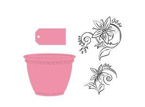 Marianne Design Samlerobjekter - Flower Pot