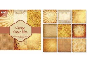 DESIGNER BLÖCKE  / DESIGNER PAPER Vintage papir blok Nr1, 36 ark, 4x9 designs