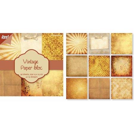 DESIGNER BLÖCKE  / DESIGNER PAPER Bloque de papel de la vendimia Nr1, 36 hojas, diseños 4x9
