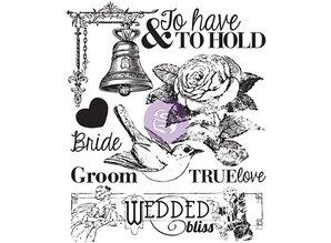 Prima Marketing und Petaloo Clear stamps wedding