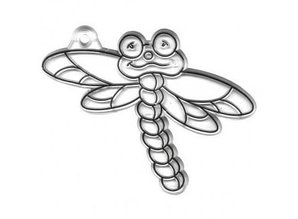 Kinder Bastelsets / Kids Craft Kits Acrylic Pendants, Dragonfly, 7x9 cm