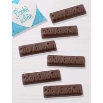 "Schokoladengießform ""Dankeschön"""