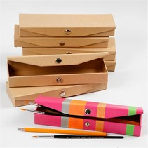 Caja de lápiz, para decorar, pintar, etc.