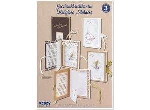 BASTELSETS / CRAFT KITS: Bastelset, Geschenkbuchkarten für religiöse Anlässe