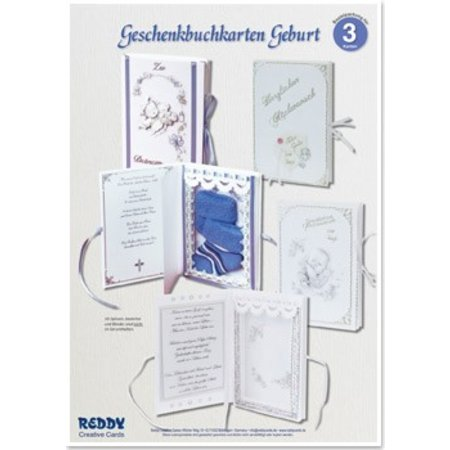 BASTELSETS / CRAFT KITS: Craft Kit, gavepapir kort Fødsel