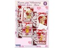 """BASTELSETS / CRAFT KITS: Komplet Craft Kit, kort til forskellige lejligheder """"kærlighed bjørne"""""""