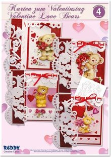 "BASTELSETS / CRAFT KITS: Kit completo Craft, schede per le diverse occasioni ""orsi amore"""