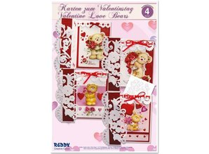 "BASTELSETS / CRAFT KITS: Craft Kit, cards for different occasions ""love bears"""