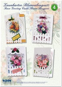 BASTELSETS / CRAFT KITS: Craft Kit, Hegn Lykønskningskort blomsterbuketter