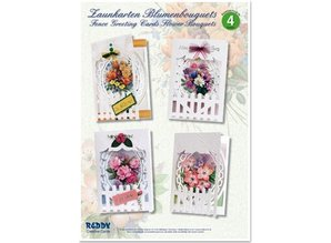 BASTELSETS / CRAFT KITS: Craft Kit, Fence Greeting Cards Flower Bouquets