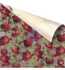 """Designer Papier Scrapbooking: 30,5 x 30,5 cm Papier Dobbeltsidet trykt papir Designer, """"Roses Are Red"""""""