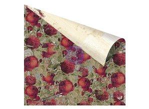 """Designer Papier Scrapbooking: 30,5 x 30,5 cm Papier Designer papir, """"Roses Are Red"""" 30,5 x 30,5 cm"""