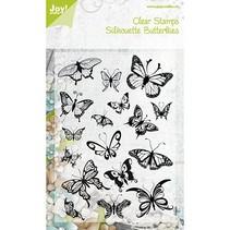 Sellos transparentes de las mariposas