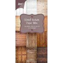 Bloque de papel bonito, adornos de madera