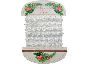 DEKOBAND / RIBBONS / RUBANS ... Flores románticas de encaje, 100cm