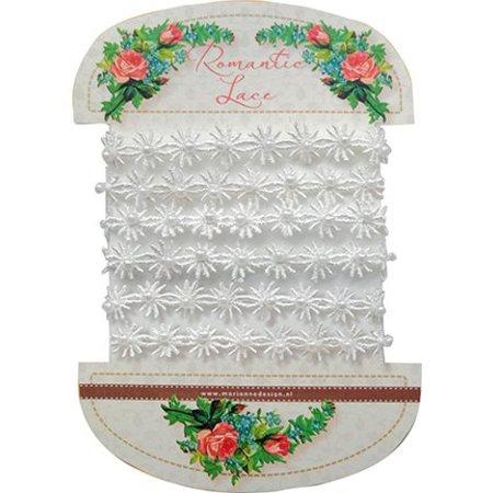 DEKOBAND / RIBBONS / RUBANS ... Romantiske blonder blomster, 100cm