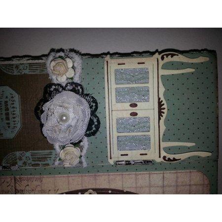 Objekten zum Dekorieren / objects for decorating dreiflügelige Ikone, aus Holz - mit Metallscharnieren 18 x 22cm