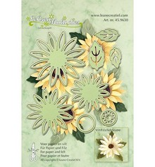 Leane Creatief - Lea'bilities Stamping and embossing stencils, flower