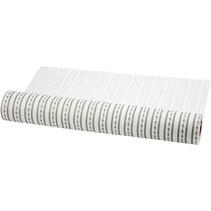 Design filt, B: 45 cm, hvid og grå, 1 m