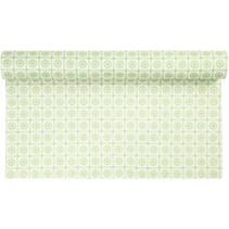 Diseño sentía, W: 45 cm, color verde con motivos, 1 m