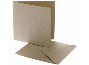 KARTEN und Zubehör / Cards Card size 12,5 x12, 5 cm, natural