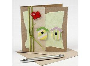 KARTEN und Zubehör / Cards Kort str. 12,5 x12, 5 cm, natur