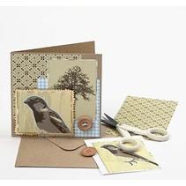 10er Set Karten und Umschläge + Gratis Bildanleitung für eine nostalgische Karte + Gratis Designerpapier