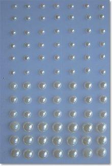 Embellishments / Verzierungen perline adesivi, color crema