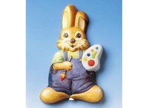 GIESSFORM / MOLDS ACCESOIRES Dekostecker Rabbit with color palette, 22x14cm, 500g Material Requirements