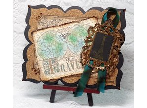 Spellbinders und Rayher Metal template Samantha Walker, Antique Frame and Accents