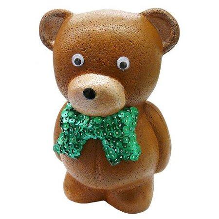 Objekten zum Dekorieren / objects for decorating 1 piepschuim vorm, beer met lint, 20 cm