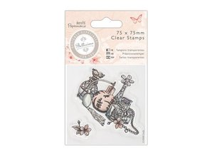 Stempel / Stamp: Transparent Klare frimærker, 75 x 140mm Mini Clear Stamp - Bellisima - Kjole